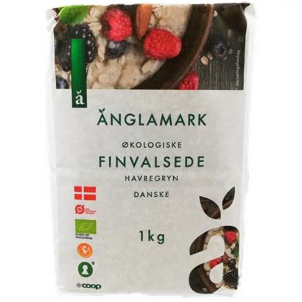 Kalorier i Änglamark Økologiske Finvalsede Havregryn Danske