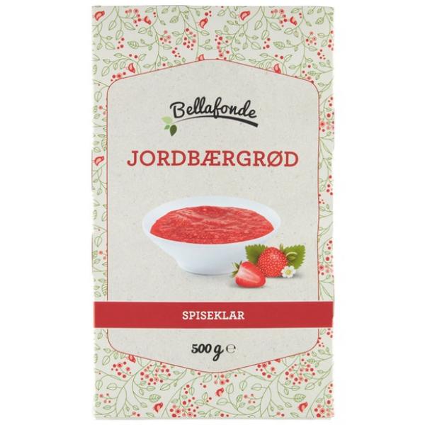 Kalorier i Bellafonde Jordbærgrød Spiseklar