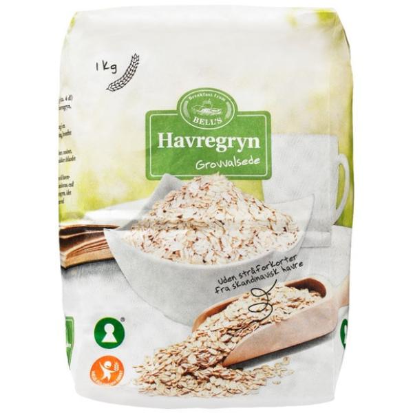 Kalorier i Bell's Havregryn Grovvalsede