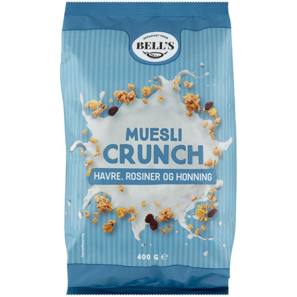 Kalorier i Bell's Muesli Crunch Havre, Rosiner og Honning