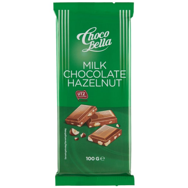 Kalorier i Choco Bella Milk Chocolate Hazelnut