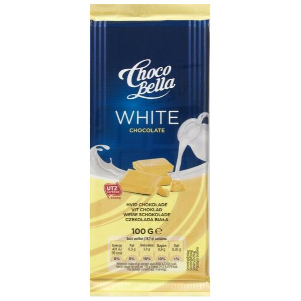 Kalorier i Choco Bella White Chocolate