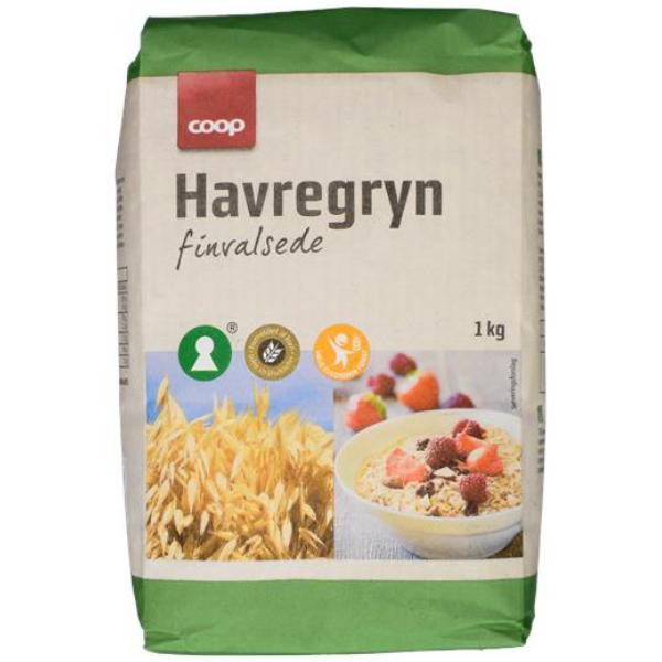 Kalorier i Coop Havregryn Finvalsede