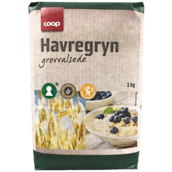 Kalorier i Coop Havregryn Grovvalsede
