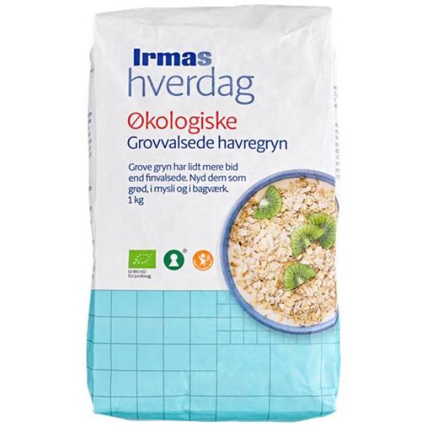 Kalorier i Irmas Hverdag Økologiske Grovvalsede Havregryn