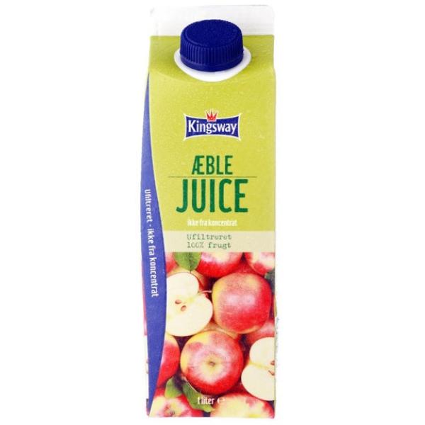 Kalorier i Kingsway Æblejuice Ikke fra Koncentrat Ufiltreret