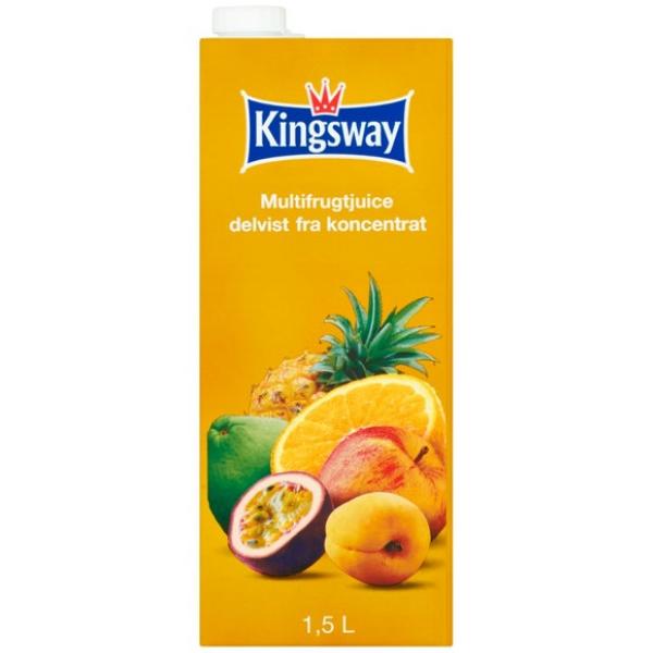 Kalorier i Kingsway Multifrugtjuice Delvist fra Koncentrat