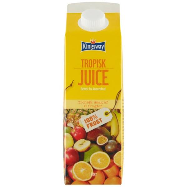 Kalorier i Kingsway Tropisk Juice Delvist fra Koncentrat