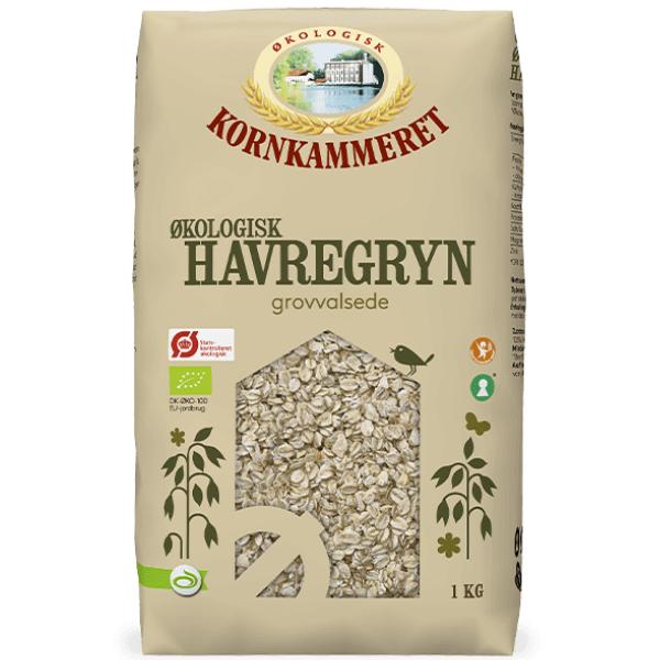 Kalorier i Kornkammeret Økologisk Havregryn Grovvalsede