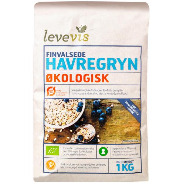 Kalorier i Levevis Finvalsede Havregryn Økologisk