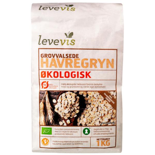 Kalorier i Levevis Grovvalsede Havregryn Økologisk