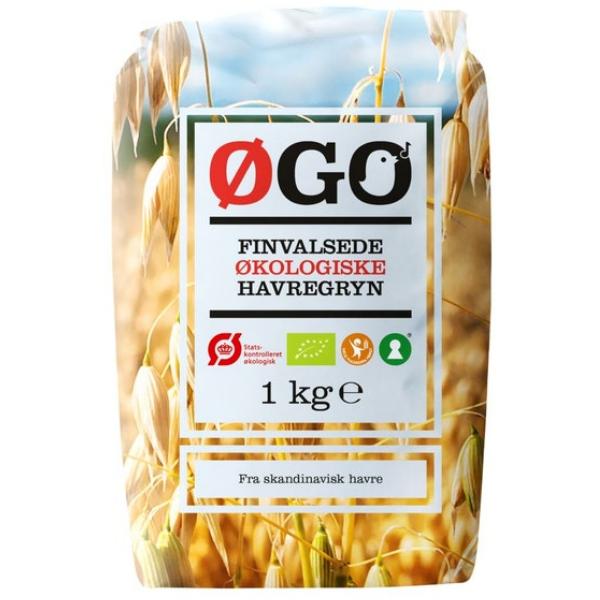 Kalorier i Øgo Finvalsede Økologiske Havregryn