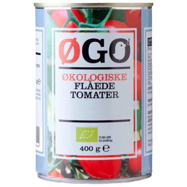 Kalorier i Øgo Økologiske Flåede Tomater