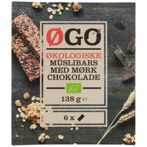 Kalorier i Øgo Økologiske Müslibars med Mørk Chokolade