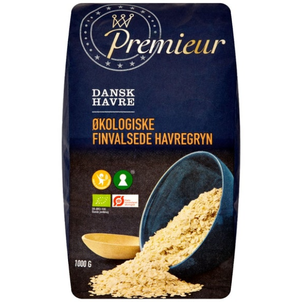 Kalorier i Premieur Dansk Havre Økologiske Finvalsede Havregryn