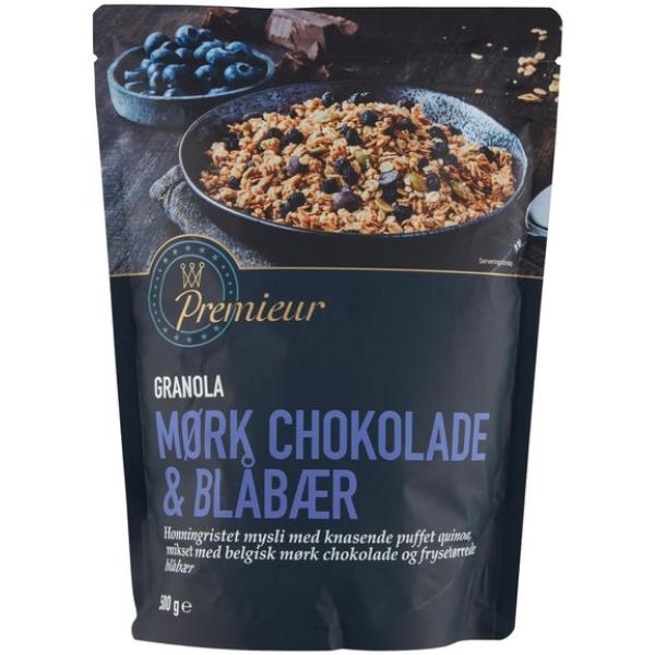 Kalorier i Premieur Granola Mørk Chokolade & Blåbær