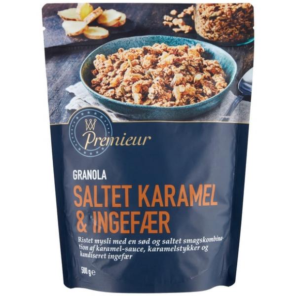 Kalorier i Premieur Granola Saltet Karamel & Ingefær