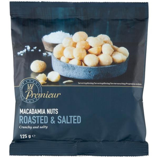 Kalorier i Premieur Macadamia Nuts Roasted & Salted