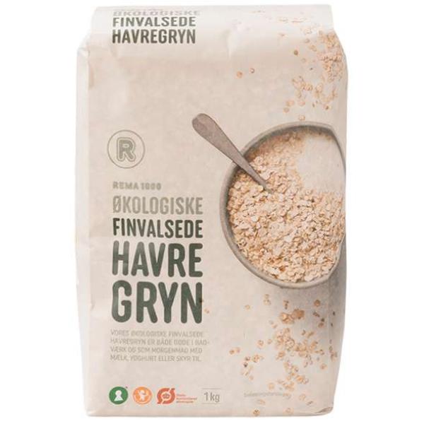 Kalorier i Rema 1000 Økologiske Finvalsede Havregryn