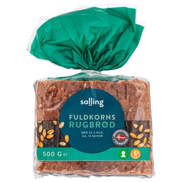 Kalorier i Salling Fuldkornsrugbrød med 54% Rug