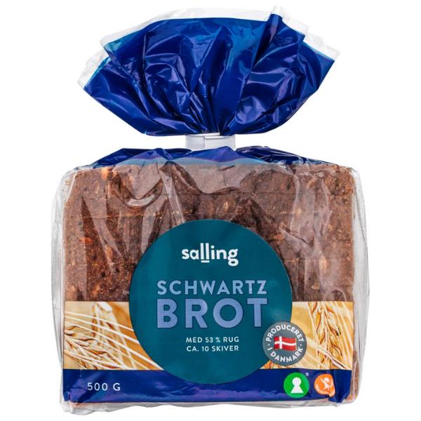 Kalorier i Salling Schwartzbrot med 53% Rug