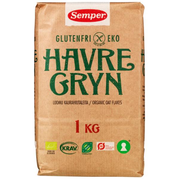 Kalorier i Semper Glutenfri Eko Havregryn