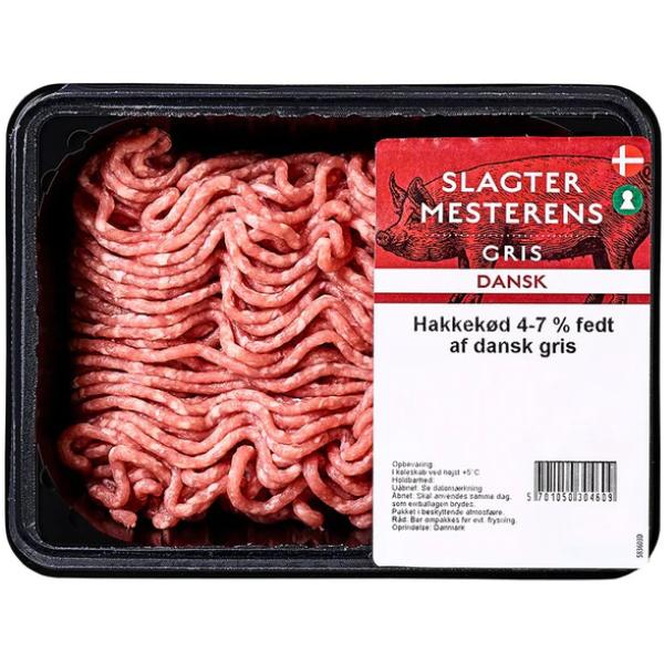 Kalorier i Slagtermesterens Hakkekød 4-7% Fedt af Dansk Gris