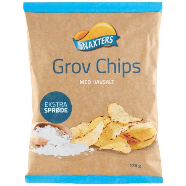 Kalorier i Snaxters Grov Chips med Havsalt