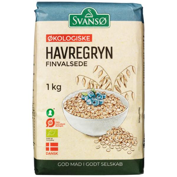 Kalorier i Svansø Økologiske Havregryn Finvalsede