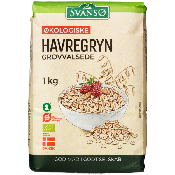Kalorier i Svansø Økologiske Havregryn Grovvalsede