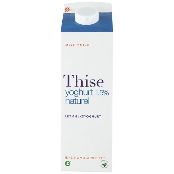 Kalorier i Thise Yoghurt 1,5% Naturel Letmælksyoghurt