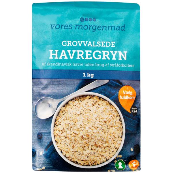 Kalorier i Vores Grovvalsede Havregryn