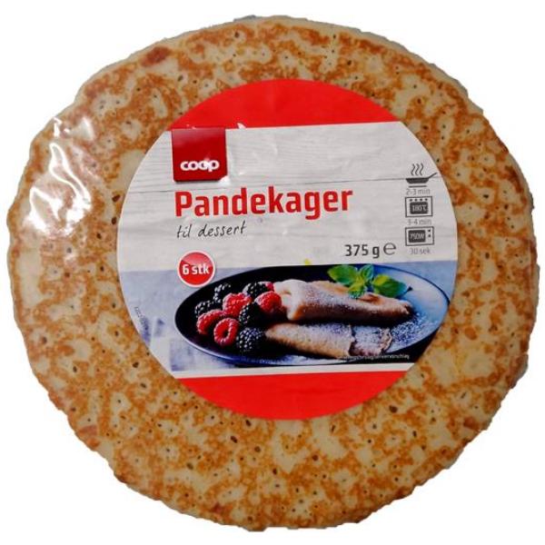Kalorier i Coop Pandekager til Dessert