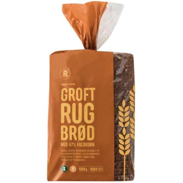 Kalorier i Rema 1000 Groft Rugbrød med 47% Fuldkorn