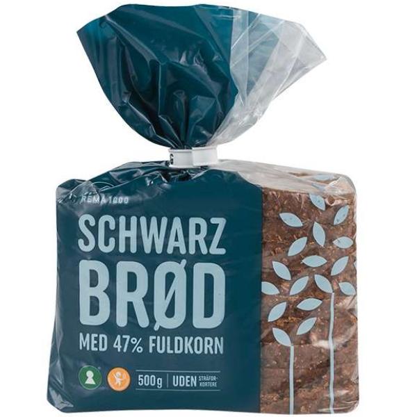 Kalorier i Rema 1000 Schwarzbrød med 47% Fuldkorn