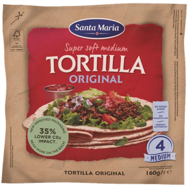 Kalorier i Santa Maria Super Soft Medium Tortilla Original