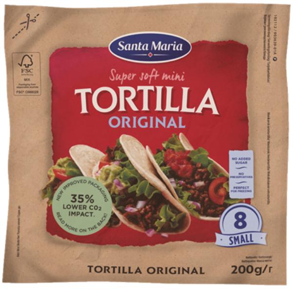 Kalorier i Santa Maria Super Soft Mini Tortilla Original