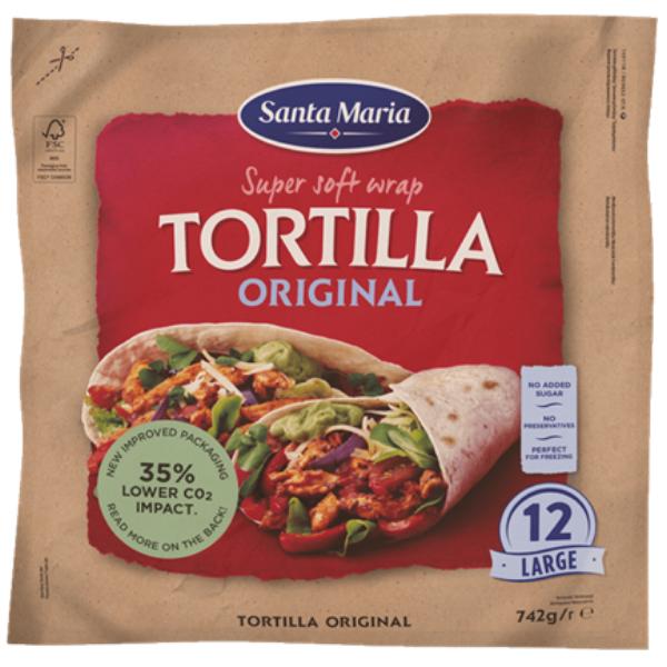 Kalorier i Santa Maria Super Soft Wrap Tortilla Original