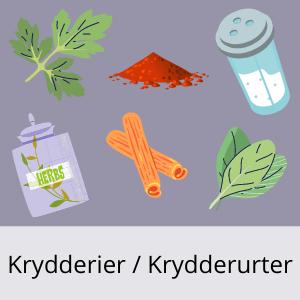 Kalorier i Krydderier / Krydderurter
