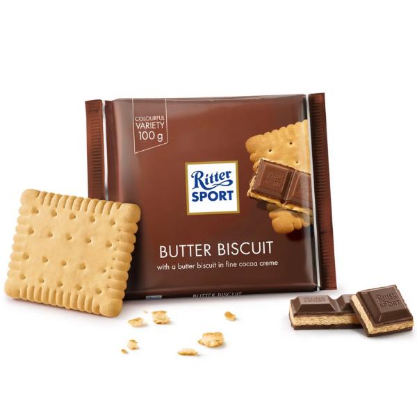Kalorier i Ritter Sport Butter Biscuit