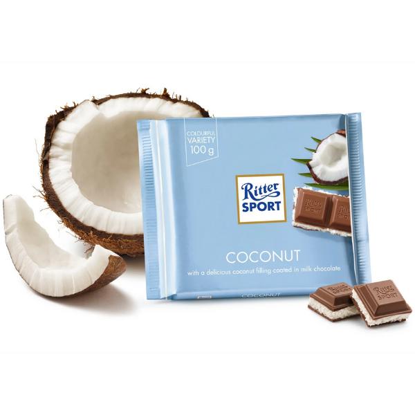 Kalorier i Ritter Sport Coconut