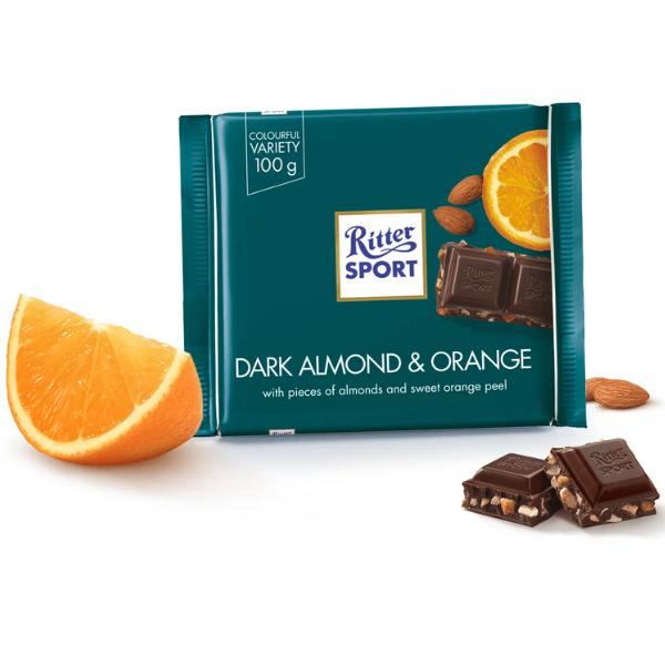 Kalorier i Ritter Sport Dark Almond & Orange