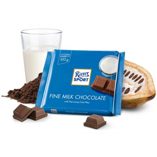 Kalorier i Ritter Sport Fine Milk Chocolate