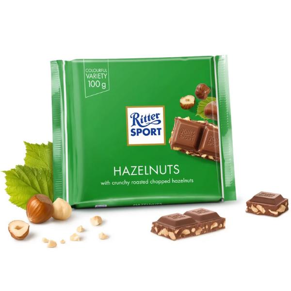 Kalorier i Ritter Sport Hazelnuts