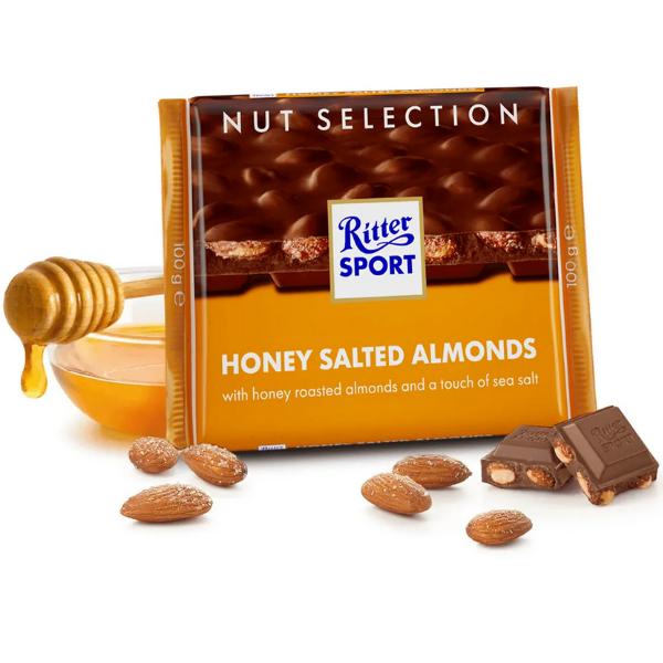 Kalorier i Ritter Sport Honey Salted Almonds