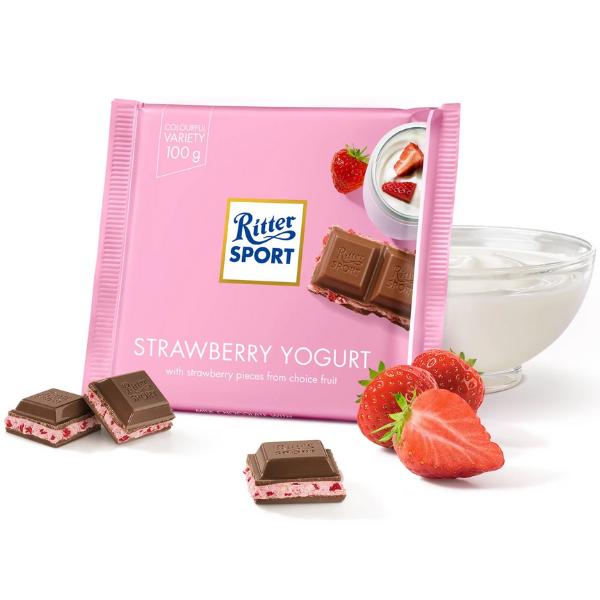 Kalorier i Ritter Sport Strawberry Yogurt
